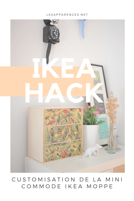 DIY: customisation de la mini commode IKEA Moppe