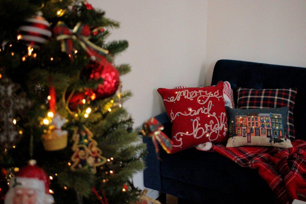 Coussins Mark&Spencer pillows Noël Christmas