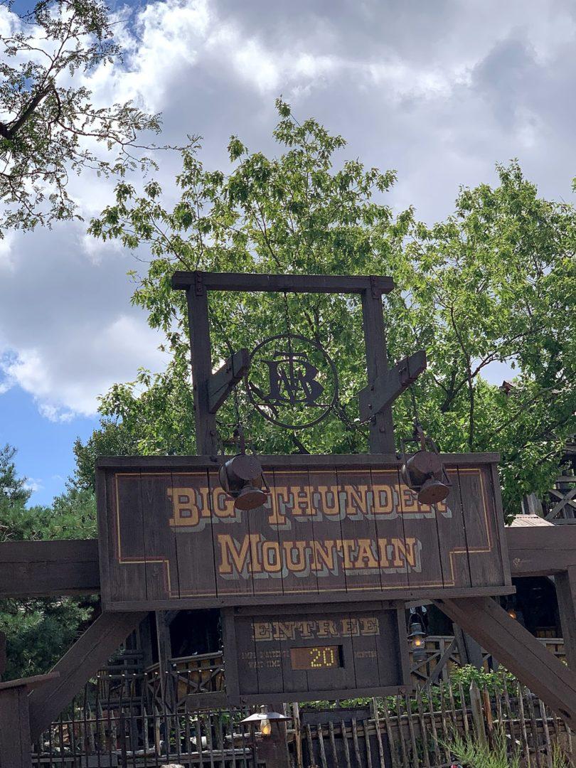 Big Thunder Montain Disneyland Paris temps d'attente